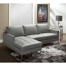 "Load image into Gallery viewer, Corniche Leather 115"" Left Hand Facing Sectional"