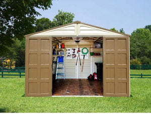 WoodBridge Plus 10.5 ft. x 8 ft. Vinyl Storage Shed *AS IS #347HW
