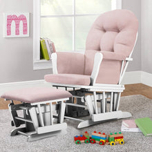 Load image into Gallery viewer, Essex Glider and Ottoman Pink/White(333)