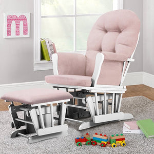 Essex Glider and Ottoman Pink/White(333)