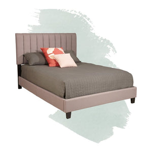 Morgan Queen Upholstered Standard Bed Taupe(1742RR)