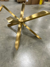 Load image into Gallery viewer, Boler Rectangular Glass Table Base  Gold AS IS