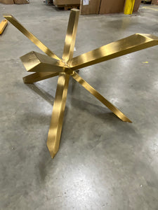 Boler Rectangular Glass Table Base  Gold AS IS