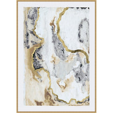 Load image into Gallery viewer, Gray/Gold 'Cinder and Smoke I' - Picture Frame Print on Paper - #39CE