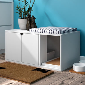 Grinnell Eco Litter Box Enclosure White #217HW