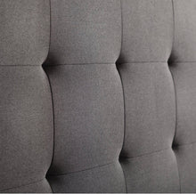 Load image into Gallery viewer, Cy Upholstered Panel Headboard Queen Color Charcoal #27HW