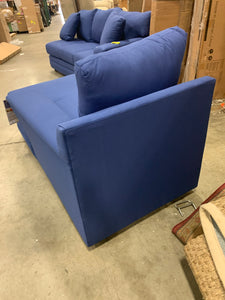 Klaussner Home furnishings right arm facing chaise lounge Blue *AS IS*