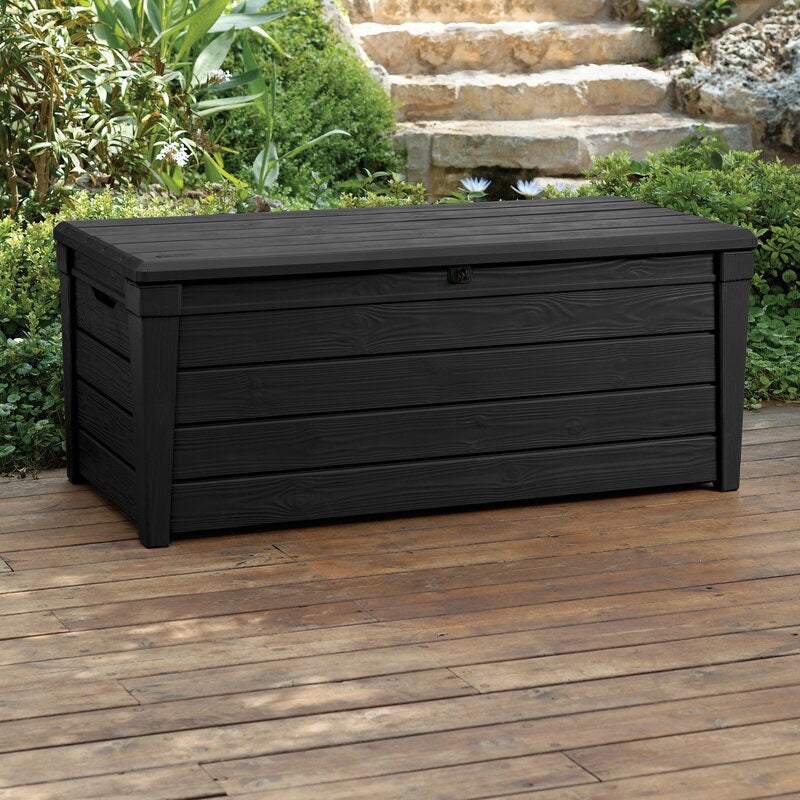 Brightwood 120 Gallon Resin Deck Box Anthracite Grey(1743RR)