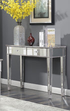 Load image into Gallery viewer, Convenience Concepts Rowland Mirrored Desk Weathered Gray #21HW