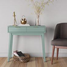 Load image into Gallery viewer, Hafley Two Drawer Console Table Smoke Green(561)
