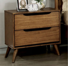 Load image into Gallery viewer, Mollie Mid-Century 2 Drawer Nightstand Color Light-Oak #18HW
