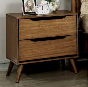 Mollie Mid-Century 2 Drawer Nightstand Color Light-Oak #18HW