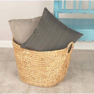 Litton Lane 21 in. x 17 in. Seagrass Storage Basket(1884RR)