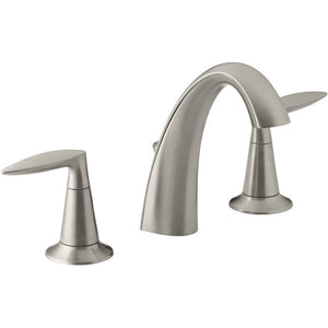 Vibrant Brushed Nickel Alteo Widespread Bathroom Sink Faucet with Drain Assembly(248)