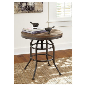 Vennilux Round End Table Grayish Brown(276)