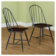 Load image into Gallery viewer, Milo Mixed Media Wood Top Chairs Set of 2 Metal/Black(273)