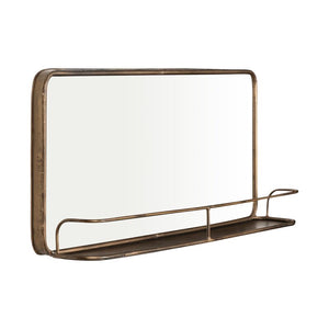Peetz Accent Mirror with Shelves 16x36 Brass/Gold(1836RR)