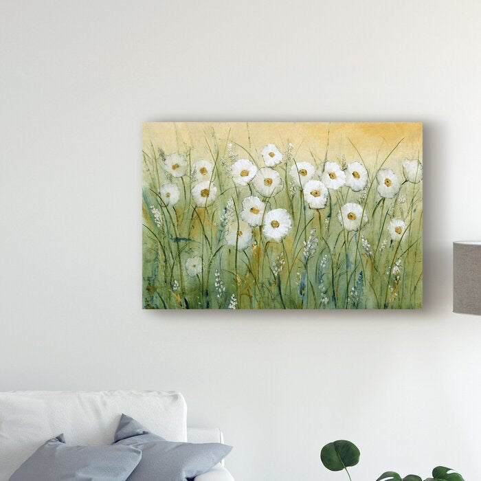 Daisy Spring I' Acrylic Painting Print on Wrapped Canvas(1948RR)