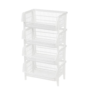 Jumbo Stacking Plastic Basket (Set of 4) #352HW
