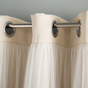 Brockham Solid Blackout Grommet Curtain Panels (Set of 2) HA9729