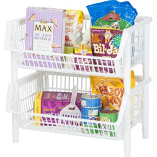 Load image into Gallery viewer, Jumbo Stacking Plastic Basket (Set of 4) #352HW