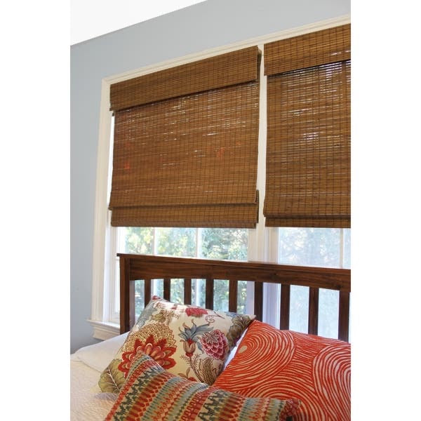 Cordless Semi-Sheer Brown Roman Shade - #20CE