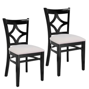 Mignone Solid Wood Side Chair Black Frame ( Set of 2) #3HW