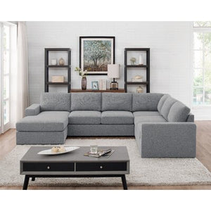 "Latitude Run Alberdina 120.5"" reversible modular sectional"