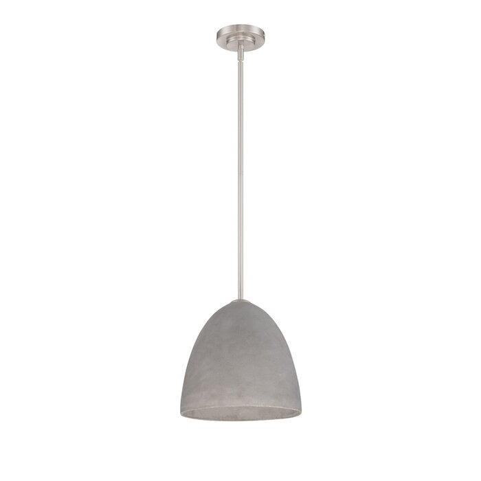 Kuebel 1 Light Single Bell Pendant Conrete Grey(790)