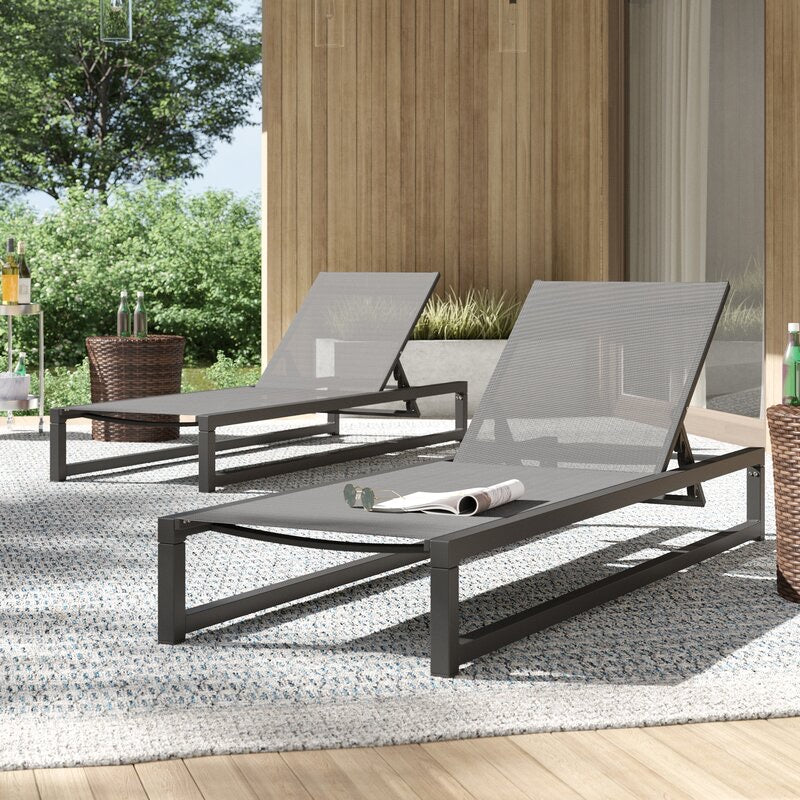 Gray Lindenberg Sun Lounger Set Of 2(1734RR)