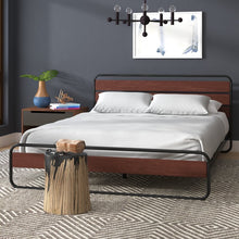 Load image into Gallery viewer, Barba Platform Bed Full Brown(2041RR)