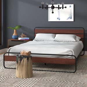 Barba Platform Bed Full Brown(2041RR)