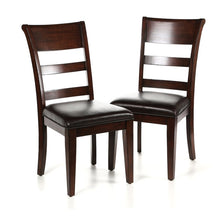 Load image into Gallery viewer, Fernson Upholstered Dining Chair Set of 2 Dark Cherry(1862RR)