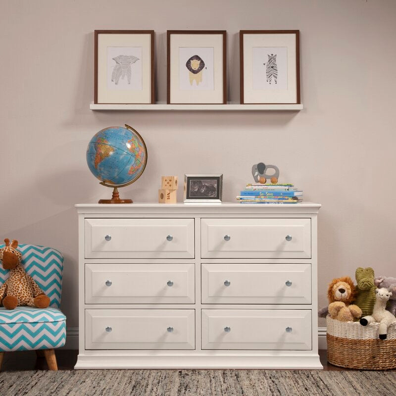 White Signature 6 Drawer Double Dresser(1614RR)
