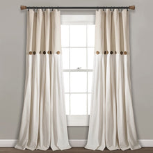 Load image into Gallery viewer, Beckham Window Solid Semi-Sheer Rod Pocket Curtain Panels Set of 2 Beige(2025RR)