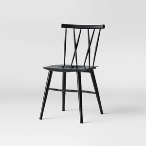 Becket Metal X Back Dining Chair Set of 2 Black(1857RR)