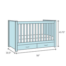 Load image into Gallery viewer, Bennett 4-in-1 Convertible Crib Bianca White(1621RR)