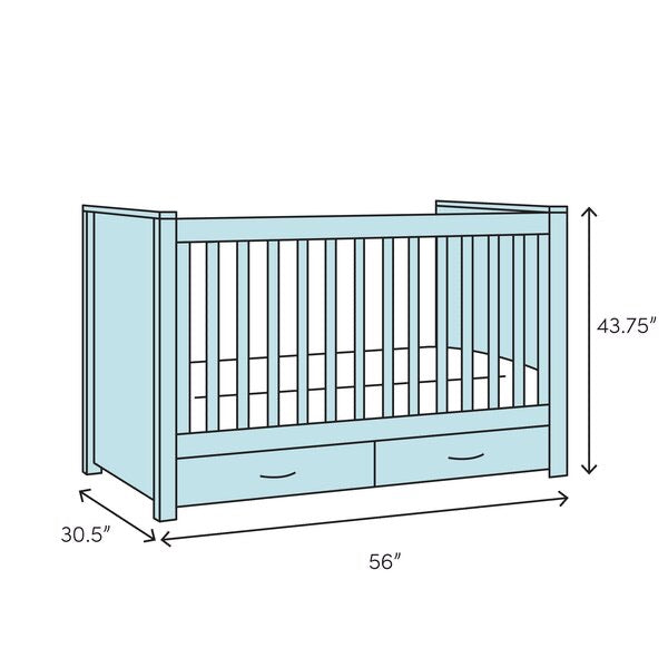 Bennett 4-in-1 Convertible Crib Bianca White(1621RR)