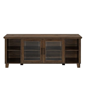 Columbus TV Stand With Middle Doors Dark Walnut #185HW