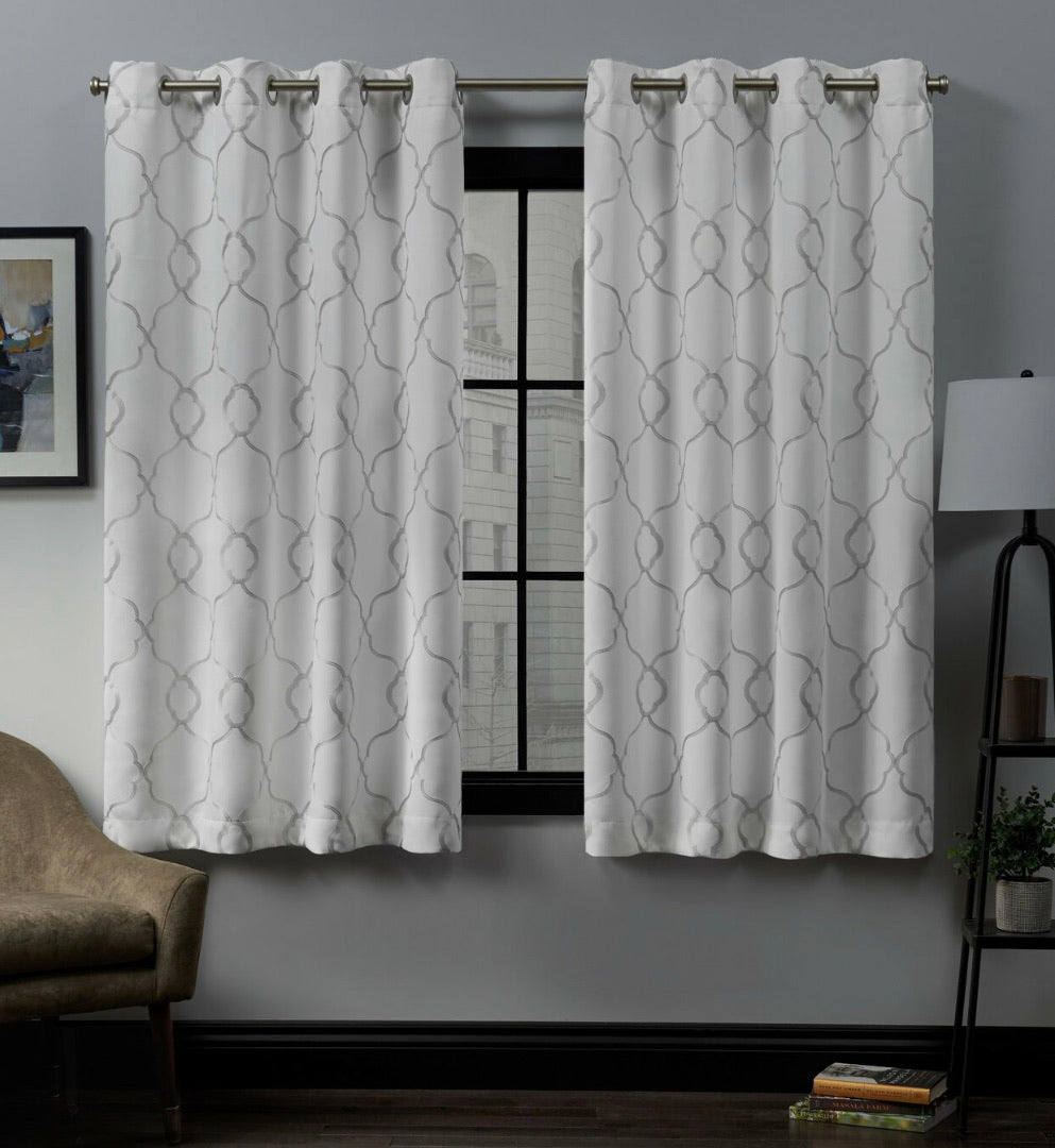 "Belew Geometric Blackout Thermal Curtains 63"" #302-NT"