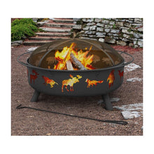Load image into Gallery viewer, Black Super Sky Steel Wood Burning Fire Pit #40HW