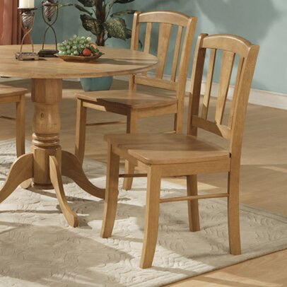 Set of 2 Spruill Solid Wood Dining Chair- Oak #4482