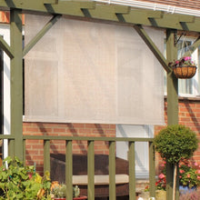 "Load image into Gallery viewer, Cordless Sun Semi-Sheer Outdoor Roller Shade 72"" x 72""'Monterey(1778RR)"