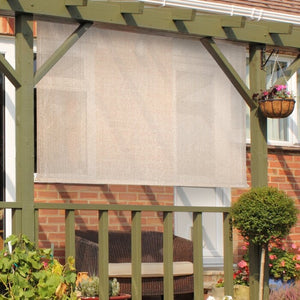 "Cordless Sun Semi-Sheer Outdoor Roller Shade 72"" x 72""'Monterey(1778RR)"