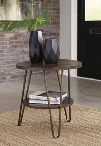 Lettori Brown Round End Table #4270