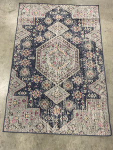 Safavieh Montage Black/Multi 4' x 6' Area Rug (1757)