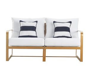 Mirabelle Outdoor Sofa in White and French Gold(623)