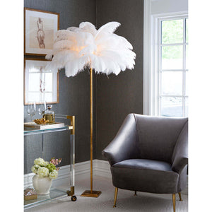 "Josephine Feather 70"" floor lamp #331nt"