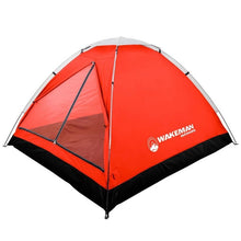 Load image into Gallery viewer, Wakeman 2-Person Water Resistant Dome Tent - Red/Gray + Coleman QuickBed Single High Air Mattress Twin(556-2boxes)