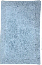 Load image into Gallery viewer, Ellaville Bella Napoli Rectangle 100% Cotton Reversible Bath Mat Light Blue (1677RR)